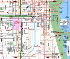 chicago tourist map road map of chicago downtown the loop chicago illinois