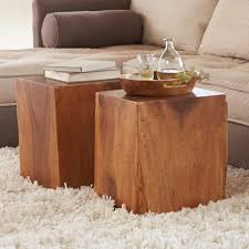 Cube Coffee Tables Wood Cube Table Divinodessert