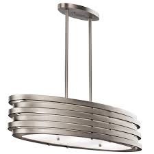 Nickel Island Light Kichler 43303ni Roswell Contemporary Brushed Nickel Finish 7 75