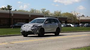 nissan pathfinder hybrid 2017 2017 nissan pathfinder facelift spy photo motor1 com photos