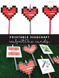 minecraft valentines cards printable minecraft s day cards grant designs