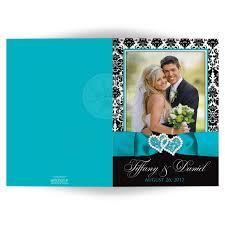 wedding thank you card photo wedding thank you card black and white damask printed