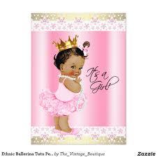 baby shower ballerina ethnic ballerina tutu pearl baby shower 4 5x6 25 paper