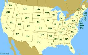 united states map with labels of states and capitals political simple map of united states single color outside us map