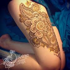 25 trending thigh henna ideas on henna leg