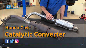 2003 cadillac cts catalytic converter how to replace install catalytic converter 01 05 honda civic