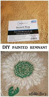 Sunflower Rugs How To Stencil On A Remnant Rug And Make It Your Own Debbiedoos