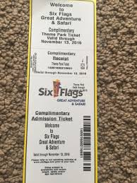 Discounted Six Flags Tickets 5 Six Flags Great Adventure Tickets Good Until November 13th In