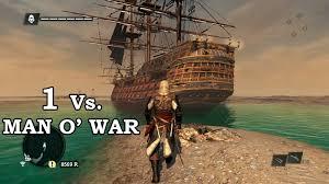 Ac4 Black Flag Assassin U0027s Creed 4 Black Flag 1 Vs Man O U0027 War Youtube