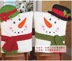snowman chair covers aliexpress buy 2pcs christmas snowman chair covers home