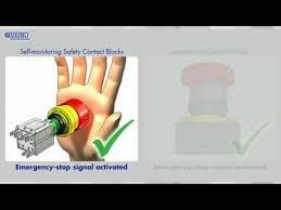 self monitoring emergency stop contact blocks georg schlegel