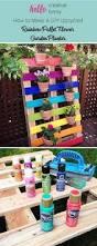 Outdoor Planter Ideas by Best 25 Wood Pallet Planters Ideas On Pinterest Pallet Garden