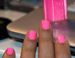 nail of the day essie u201cpink parka u201d beauty gala