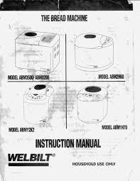 welbilt bread machine blog models abm3500 abm8200 abm2h60