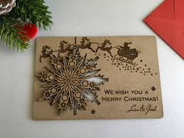 christmas cards personalised wooden greeting cards wood