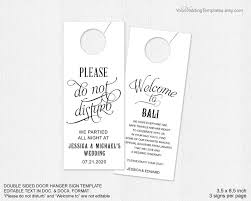 wedding door hanger template invitation do not disturb door hanger 2478127 weddbook