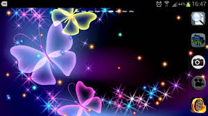 wallpapers of glitter butterflies glitter and sparkle effect butterfly live wallpaper for android
