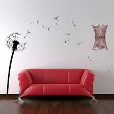 wall stickers funky vinyl wall decals dandelion wall sticker large floral wall dcor