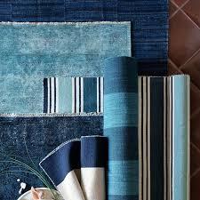 William Sonoma Kitchen Rugs Spice Market Overdyed Rug Blue Williams Sonoma