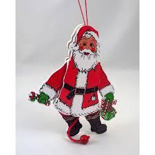 pull string vintage santa wooden decoration