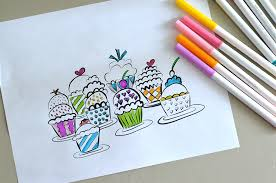 cute cupcake coloring pages sweet and simple magazine coloring pages