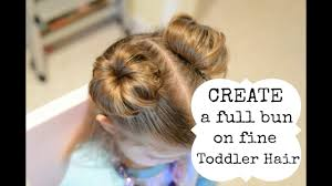 toddler hair hairstyles for toddler girl create a bun with hair