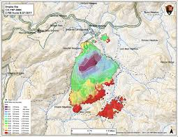 Map Of Yosemite Fires In Yosemite Park And The Stanislaus Forest Being Managed As