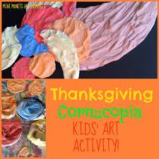 mini monets and mommies thanksgiving cornucopia shaving cream