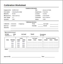 calibration report template free digital multimeter calibration procedure