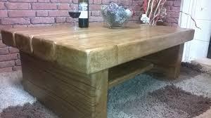 rustic oak coffee table coffee table with shelf 3 oak beam wood n wax handcrafted