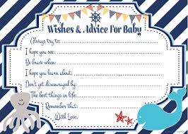 amazon com nautical wishes and advice for baby cards 50 count