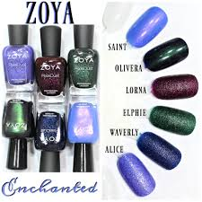 zoya enchanted nail polish collection swatches review winter