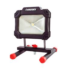 500 watt work light led conversion husky 1500 lumen led portable worklight k40066 the home depot