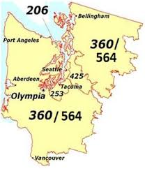 seattle map location area code 206 seattle cities location map time zone
