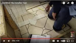 details on certified tile installer cti test