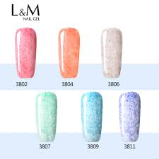 online shop 6 pieces lot lvmay brand leather series nail gel