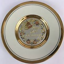 50th anniversary gold plate 50th anniversary plate ebay