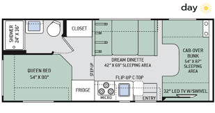Small Rv Floor Plans Small Class C Motorhome Rental Access Rv Rental