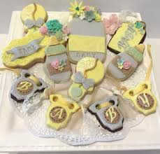 vintage baby shower cookies cookie connection