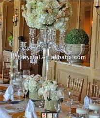 Cheap Candelabra Centerpieces 5 Arms Clear Crystal Tall Wedding Candelabra Centerpieces Crystal