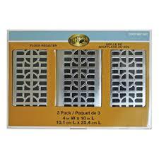 Nickel Floor L Hton Bay Circles 4 In X 10 In Steel Floor Register Brushed