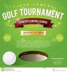 golf tournament invitation design royalty free stock photos
