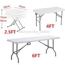 6 foot plastic table 6ft 4ft 2 5ft heavy duty folding table cing trestle picnic bbq