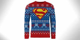 kryptonian superman christmas sweater
