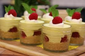 no bake individual lemon and raspberry cheesecake jars today com