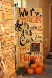 halloween door with black background