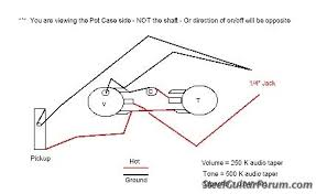 the steel guitar forum view topic volume and tone wiring