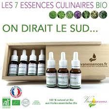 cuisine aux huiles essentielles coffret 7 essences culinaires bio saveurs du sud huiles essentielles