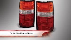 1990 toyota pickup tail light lens 89 95 toyota pickup oem style tail lights youtube