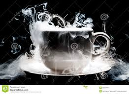 artistic coffee a coffee cup smoke abstract art stock image image 35675671